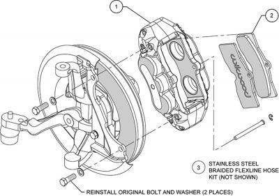 Kit de pinzas delanteras Wilwood Chevrolet Corvette 1965 1982