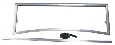 Marco parabrisas aluminio coche cerrado