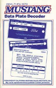 Mustang Plate Decoder